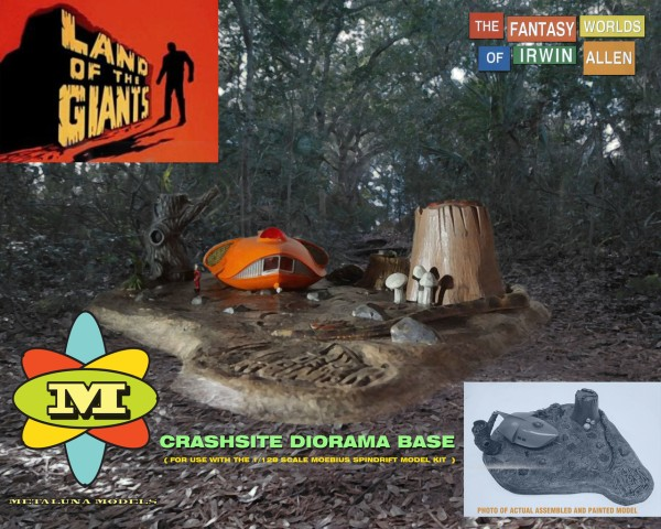 Land of the Giants Spindrift Crash Site Diorama Kit