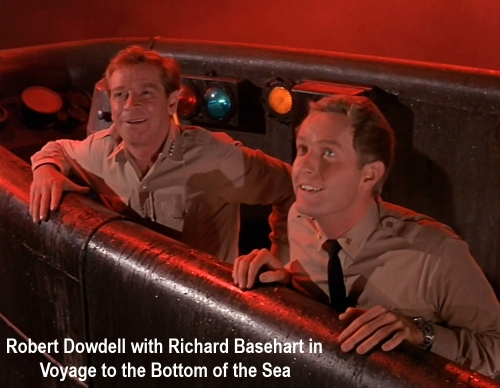 Robert Dowdell with Richard Basehart in Voyage to the Bottom of the Sea