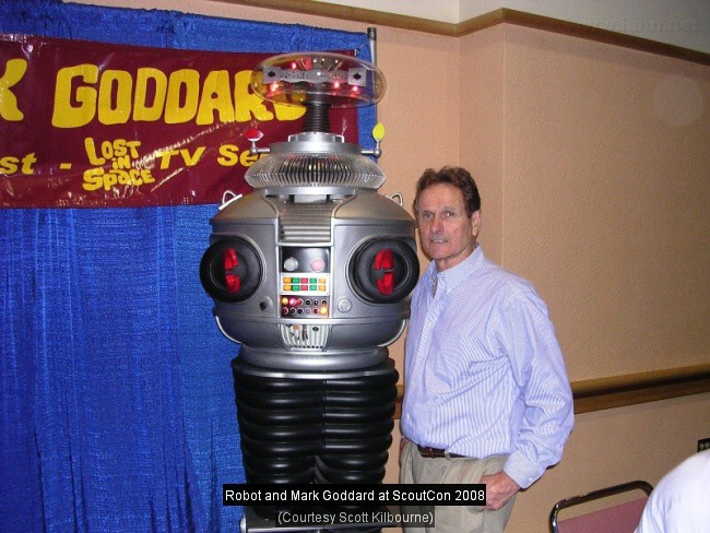 Mark Goddard with Robot