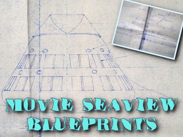 Voyage to the Bottom of the Sea Movie Seaview Miniature Blueprints
